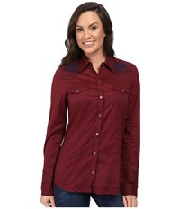 Stetson Solid Cotton Long Shirt Red Women's Clothing