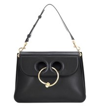 J.W.Anderson Medium Pierce Leather Shoulder Bag Black
