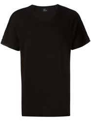 Lost And Found Ria Dunn Draped Front T Shirt Black