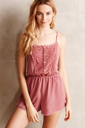 Eloise Ruffled Silk Playsuit