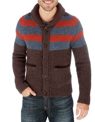 Lucky Brand Ostrander Striped Knit Cardigan Multi