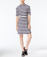 Maison Jules Striped Fit And Flare Dress Only At Macy's Blu Notte Co