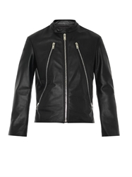 Maison Martin Margiela Zip Feature Leather Jacket