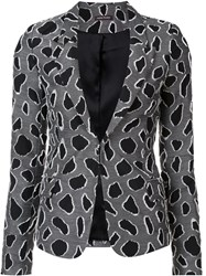 Sophie Theallet Abstract Pattern Blazer Black