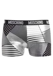Moschino Swim Parigamba Swimming Shorts Grey Metallic Metallic Grey