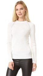 Thierry Mugler Long Sleeve Sweater Off White