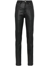 Blindness Faux Leather Slim Fit Trousers Black