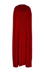 Oday Shakar Italian Wool Seamed Cape Red
