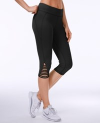 Trina Turk Strappy Cropped Leggings Black
