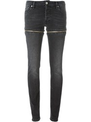 Hood By Air Zip Detail Skinny Jeans Black