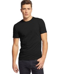 Alfani Slim Fit Crewneck T Shirt Deep Black