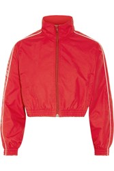 Vetements Cropped Shell Jacket Red