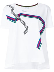 Paul Smith Ps By Round Neck T Shirt White