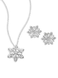 Swarovski Venalia Necklace And Earrings Set Silver
