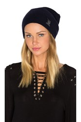 Scotch And Soda Classic Double Rib Knit Beanie Blue