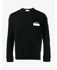 Ami Alexandre Mattiussi Name Patch Merino Wool Cashmere Blend Sweater Black White Grey