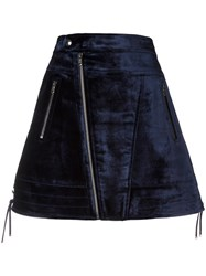 Diesel Black Gold Velvet A Line Skirt Pink Purple