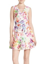 Women's Felicity And Coco Back Cutout Fit And Flare Dress Flower Doodle