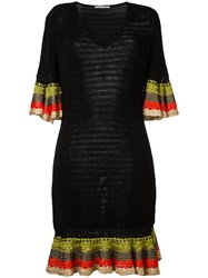 Marco De Vincenzo Knitted V Neck Dress Black