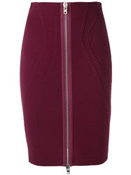 Givenchy Fitted Zip Skirt Pink Purple
