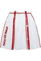 Each X Other Embellished Pvc Skirt Red