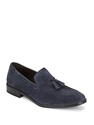 Saks Fifth Avenue Pitt Suede Tassel Loafers Navy Suede