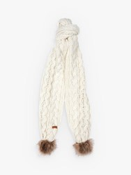 Barbour Cable Pom Scarf Cloud