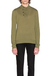 Maison Martin Margiela Jersey Elbow Patch Sweater In Green