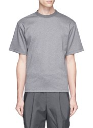 Kolor Rib Neck Cotton T Shirt Grey
