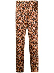 Each X Other Graphic Print Belted Trousers Orange