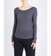 French Connection Superlux Jersey Top 200 Grey 200 Black