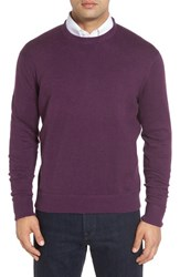 Robert Talbott Men's 'Jersey Sport' Cotton Blend Crewneck Sweater Plum