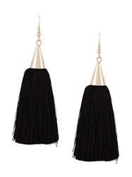 Eddie Borgo Long Tassel Earrings Black