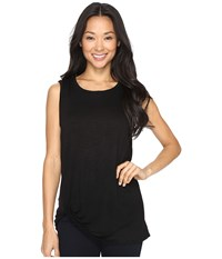 B Collection By Bobeau Side Knot Tank Top Black Women's T Shirt