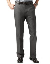 Dockers D2 Straight Fit Signature Flat Front Pants Grey
