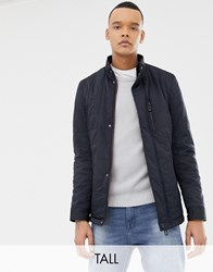 Ted Baker Tall Quilted Harrington In Navy Navy