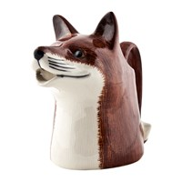 Quail Ceramics Ceramic Fox Jug Brown