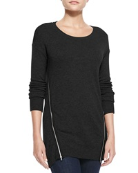 Neiman Marcus Cashmere Collection Susie Zip Body Cashmere Sweater X