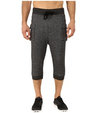 2Xist Athleisure Active Core Cargo Cropped Pants Black Heather Men's Casual Pants