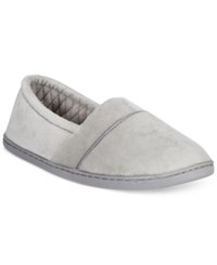 Charter Club Microvelour Memory Foam Slippers Only At Macy's Light Grey