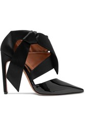 Altuzarra Satin And Patent Leather Pumps Black