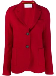 Harris Wharf London Single Breasted Blazer Red