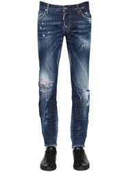 Dsquared 17.5Cm Stitched Stretch Denim Jeans