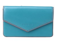 Lodis Audrey Maya Card Case Turquoise Coral Credit Card Wallet Blue
