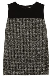Bouchra Jarrar Boucle Tweed And Crepe Top Green