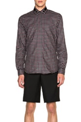 Givenchy Cross Embroidery Shirt In Red Checkered And Plaid