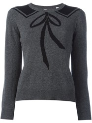 Chinti And Parker Bow Tie Detail Jumper Grey