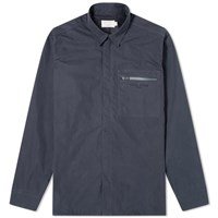 Maison Kitsune Zip Shirt Blue