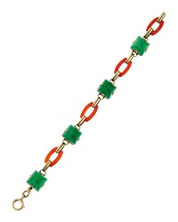 Lc Estate Jewelry Collection Estate Antique 14K Carnelian Bracelet Women's