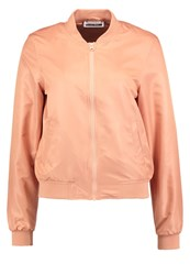 Noisy May Nmshiny Universe Bomber Jacket Dusty Coral